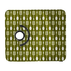 Olive Green Spatula Spoon Pattern Samsung Galaxy S  III Flip 360 Case by creativemom