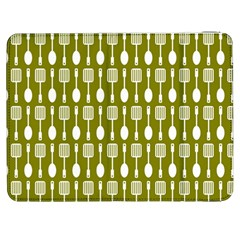 Olive Green Spatula Spoon Pattern Samsung Galaxy Tab 7  P1000 Flip Case by creativemom