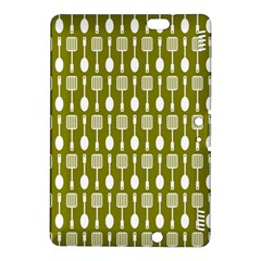 Olive Green Spatula Spoon Pattern Kindle Fire Hdx 8 9  Hardshell Case by creativemom