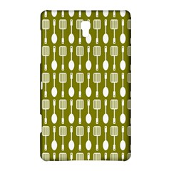 Olive Green Spatula Spoon Pattern Samsung Galaxy Tab S (8 4 ) Hardshell Case  by creativemom