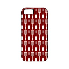 Red And White Kitchen Utensils Pattern Apple Iphone 5 Classic Hardshell Case (pc+silicone) by creativemom