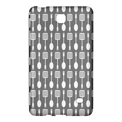 Gray And White Kitchen Utensils Pattern Samsung Galaxy Tab 4 (7 ) Hardshell Case