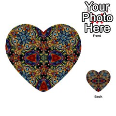 Magnificent Kaleido Design Multi Purpose Cards (heart)