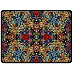 Magnificent Kaleido Design Double Sided Fleece Blanket (large)  by MoreColorsinLife