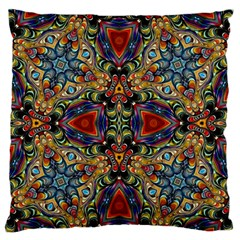 Magnificent Kaleido Design Large Flano Cushion Cases (One Side)  by MoreColorsinLife