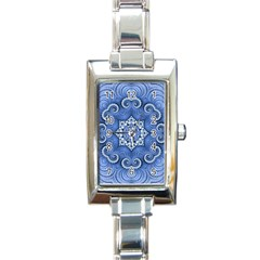 Awesome Kaleido 07 Blue Rectangle Italian Charm Watches by MoreColorsinLife