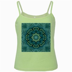 Awesome Kaleido 07 Blue Green Spaghetti Tanks by MoreColorsinLife
