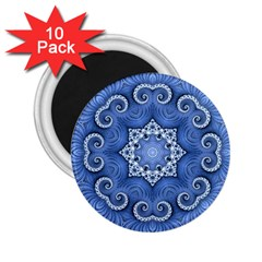 Awesome Kaleido 07 Blue 2 25  Magnets (10 Pack)  by MoreColorsinLife