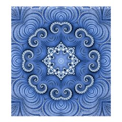 Awesome Kaleido 07 Blue Shower Curtain 66  X 72  (large)  by MoreColorsinLife