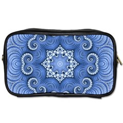 Awesome Kaleido 07 Blue Toiletries Bags 2 Side by MoreColorsinLife