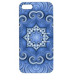 Awesome Kaleido 07 Blue Apple Iphone 5 Hardshell Case With Stand by MoreColorsinLife