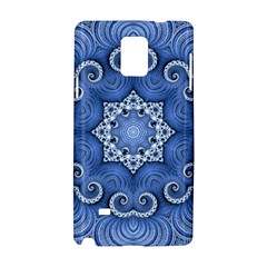 Awesome Kaleido 07 Blue Samsung Galaxy Note 4 Hardshell Case by MoreColorsinLife