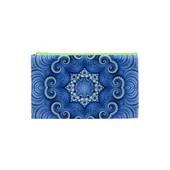 Awesome Kaleido 07 Blue Cosmetic Bag (xs) by MoreColorsinLife