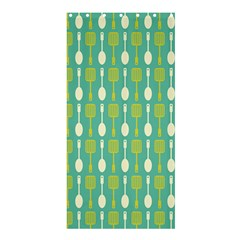 Spatula Spoon Pattern Shower Curtain 36  X 72  (stall)  by creativemom