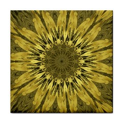 Kaleido Flower,golden Tile Coasters by MoreColorsinLife