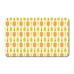 Spatula Spoon Pattern Magnet (Rectangular) by creativemom