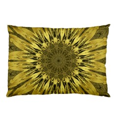 Kaleido Flower,golden Pillow Cases by MoreColorsinLife