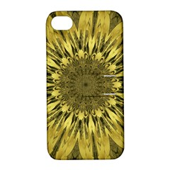 Kaleido Flower,golden Apple Iphone 4/4s Hardshell Case With Stand by MoreColorsinLife