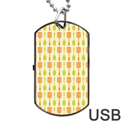 Spatula Spoon Pattern Dog Tag USB Flash (One Side) by creativemom