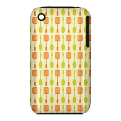 Spatula Spoon Pattern Apple Iphone 3g/3gs Hardshell Case (pc+silicone) by creativemom