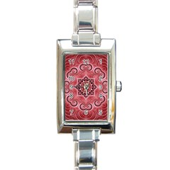 Awesome Kaleido 07 Red Rectangle Italian Charm Watches by MoreColorsinLife