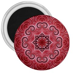 Awesome Kaleido 07 Red 3  Magnets by MoreColorsinLife