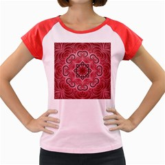 Awesome Kaleido 07 Red Women s Cap Sleeve T Shirt by MoreColorsinLife