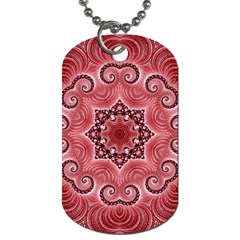 Awesome Kaleido 07 Red Dog Tag (one Side) by MoreColorsinLife
