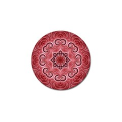 Awesome Kaleido 07 Red Golf Ball Marker by MoreColorsinLife