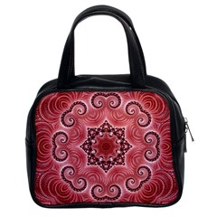 Awesome Kaleido 07 Red Classic Handbags (2 Sides) by MoreColorsinLife
