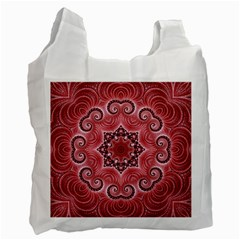 Awesome Kaleido 07 Red Recycle Bag (one Side) by MoreColorsinLife