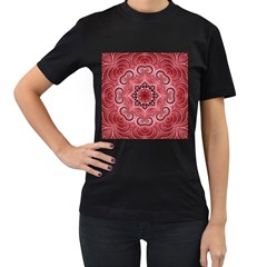 Awesome Kaleido 07 Red Women s T Shirt (black) by MoreColorsinLife