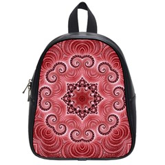 Awesome Kaleido 07 Red School Bags (small)  by MoreColorsinLife