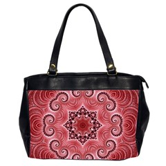 Awesome Kaleido 07 Red Office Handbags (2 Sides)  by MoreColorsinLife