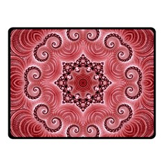 Awesome Kaleido 07 Red Fleece Blanket (small)
