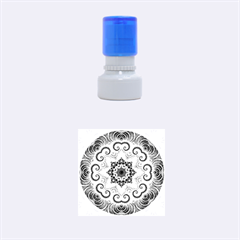 Awesome Kaleido 07 Red Rubber Round Stamps (Small) by MoreColorsinLife