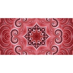 Awesome Kaleido 07 Red You Are Invited 3d Greeting Card (8x4)