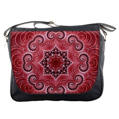 Awesome Kaleido 07 Red Messenger Bags by MoreColorsinLife