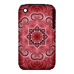 Awesome Kaleido 07 Red Apple Iphone 3g/3gs Hardshell Case (pc+silicone) by MoreColorsinLife