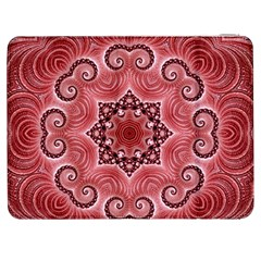 Awesome Kaleido 07 Red Samsung Galaxy Tab 7  P1000 Flip Case by MoreColorsinLife