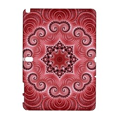 Awesome Kaleido 07 Red Samsung Galaxy Note 10 1 (p600) Hardshell Case by MoreColorsinLife