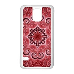 Awesome Kaleido 07 Red Samsung Galaxy S5 Case (white) by MoreColorsinLife