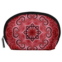 Awesome Kaleido 07 Red Accessory Pouches (large)  by MoreColorsinLife