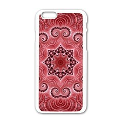 Awesome Kaleido 07 Red Apple Iphone 6 White Enamel Case by MoreColorsinLife