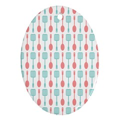 Spatula Spoon Pattern Ornament (oval)  by creativemom