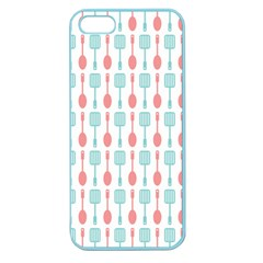 Spatula Spoon Pattern Apple Seamless Iphone 5 Case (color) by creativemom