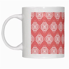 Abstract Knot Geometric Tile Pattern White Mugs by creativemom