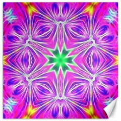 Kaleido Art, Pink Fractal Canvas 20  X 20   by MoreColorsinLife