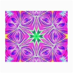 Kaleido Art, Pink Fractal Small Glasses Cloth (2 Side) by MoreColorsinLife