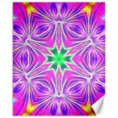 Kaleido Art, Pink Fractal Canvas 11  X 14   by MoreColorsinLife